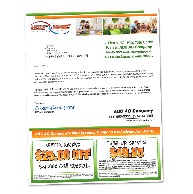 Regain your lost customers americanhvacmail 85 x 11 lost customer letter spiritdancerdesigns Image collections